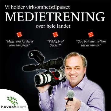 Medietrening, Intervjutrening, mediatrening, videotrening, mediehåndtering